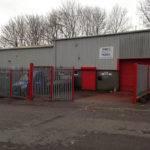 DWF Metalcraft Apex Garage Doors Warehouse entrance